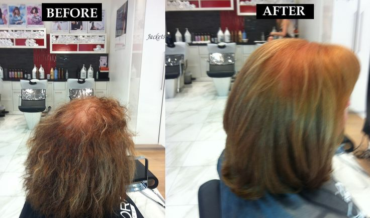 Before and After Keratin Complex Smoothing Therapy: Fine, wavy, frizzy to smooth and silky
