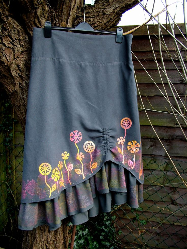 Steampunk skirt created using the All Geared Up Collection from Heartfelt Creations. Anne Waller #heartfeltcreations