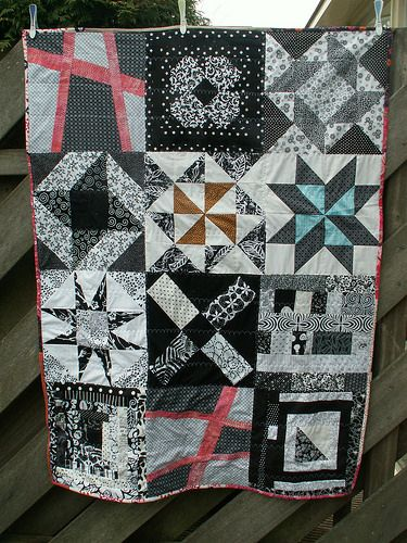 14 Orphan blocks quilt, the quilt will go to street children in Mexico City.