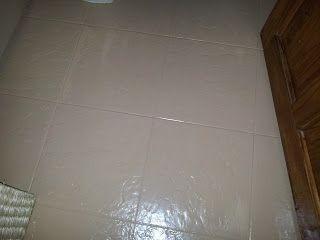 Funky-Junk: Painting Ceramic Floor Tiles