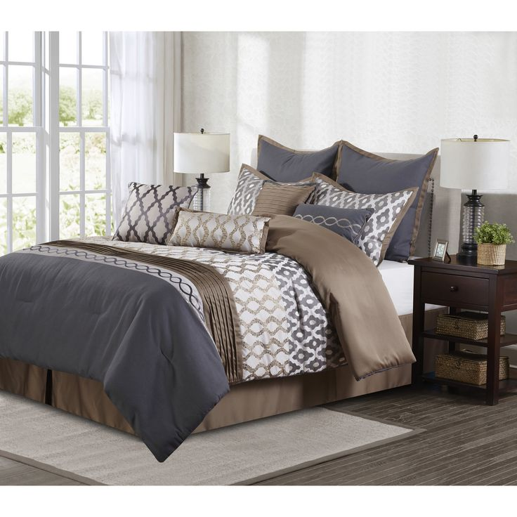 Caval and Brown 10-piece Comforter Set