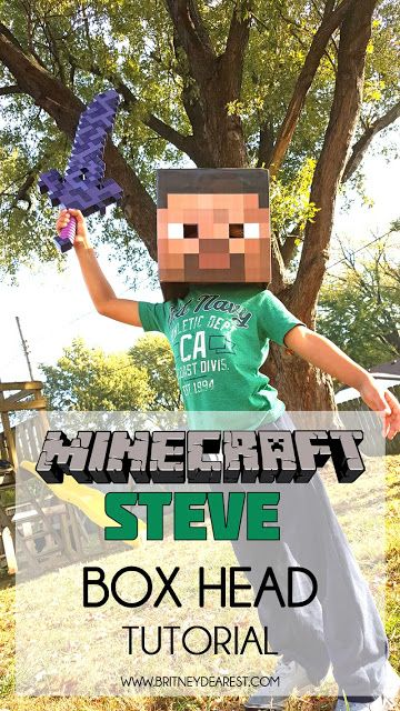 DIY | Minecraft Steve Box Head Costume Tutorial