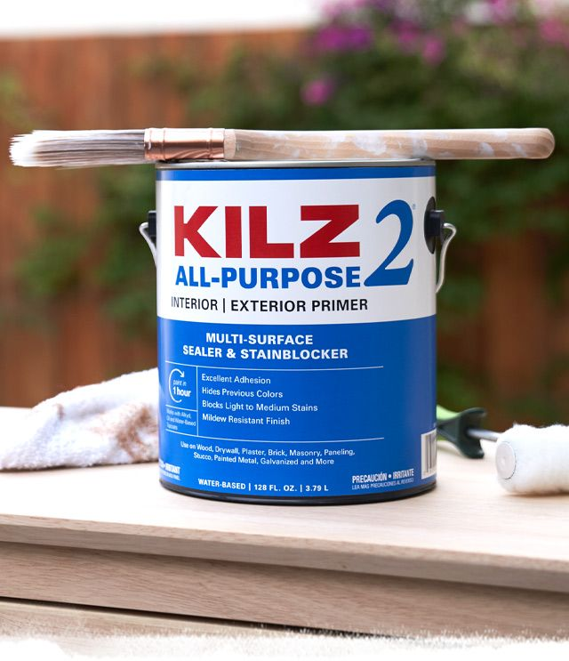 With Primer Paint Solutions For Most Surfaces From Drywall To The Kitchen And Bathroom Kilz Primers Help Block St Exterior Primer Paint Primer Kilz Primer