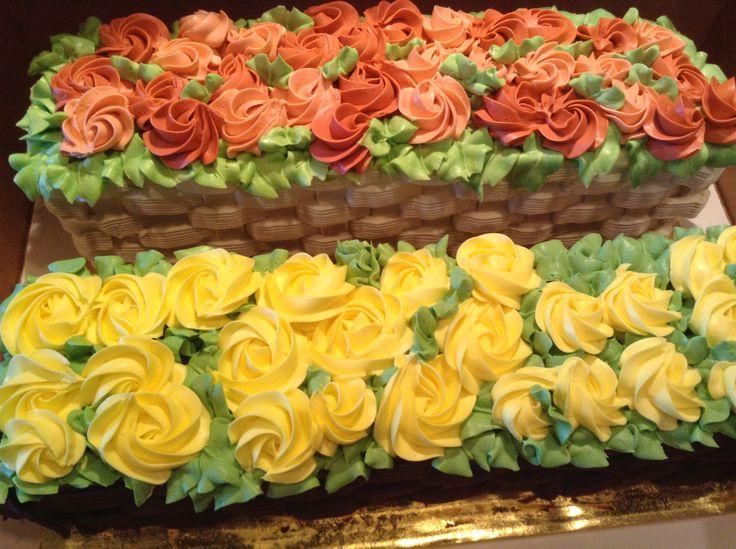 Flower box cake for Easter