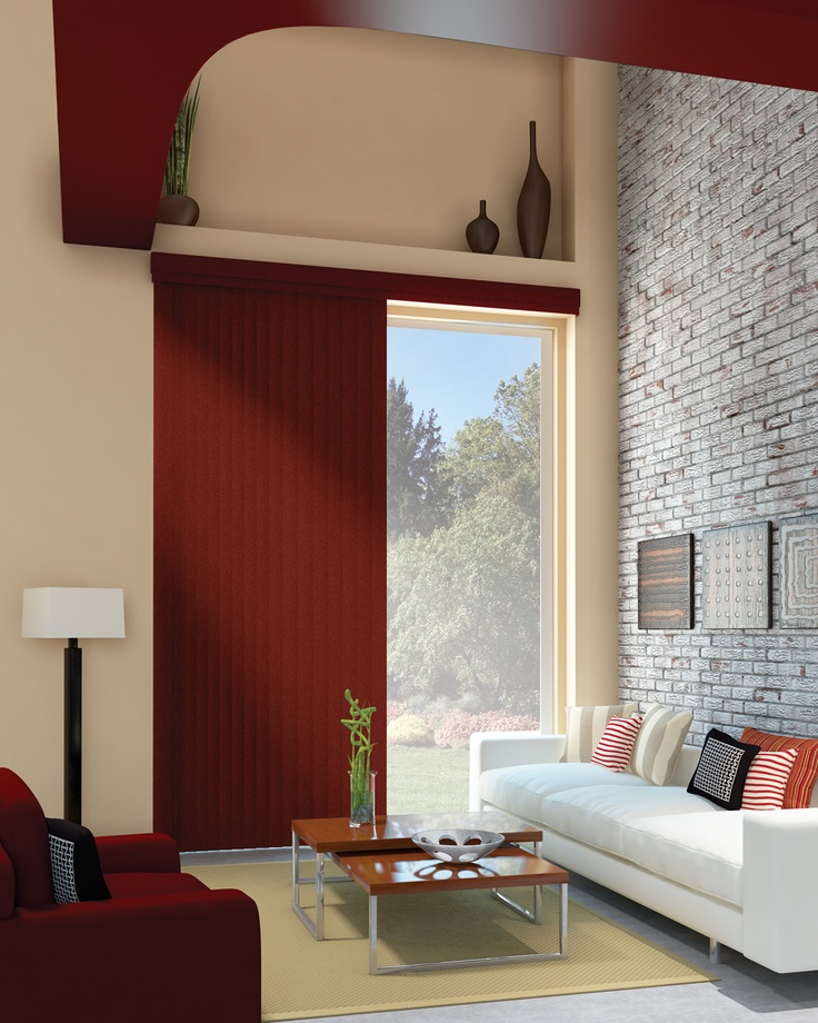 Bold Vertical Blinds To Match A Piece Of Furniture Transitional Living RoomsEclectic RoomContemporary