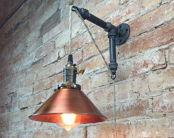 Items similar to Edison Sconce Lamp - Industrial Lighting - Steampunk Lamp - Wall Lighting on Etsy