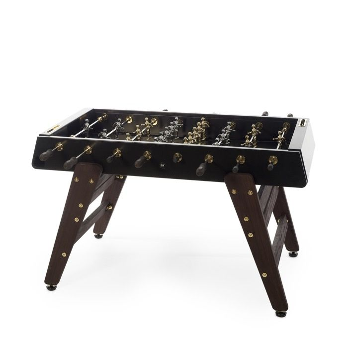 Indoor/Outdoor RS#3 Wood + Gold Foosball Table
