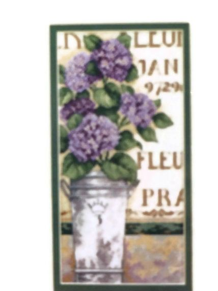 Counted Cross stitch kit Hydrangea Floral by ToppyToppyKnits