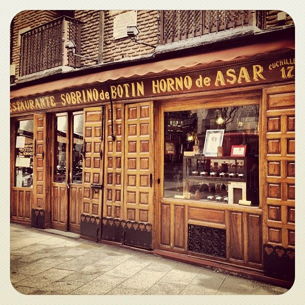 Restaurante Botín in Madrid, Madrid - I ate at Sobrino De Botin, the oldest still running restaurant in the world - founded in 1725. Delicious!!