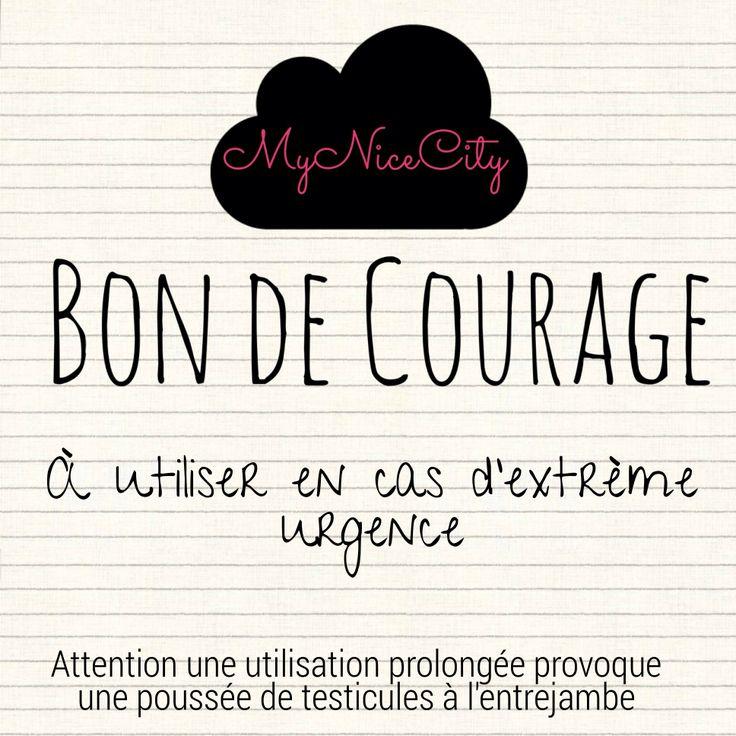 Bon de #courage - #MyNiceCity