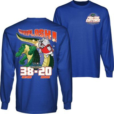 Florida Gators vs. Georgia Bulldogs 2014 Score Long Sleeve T-Shirt - Royal Blue