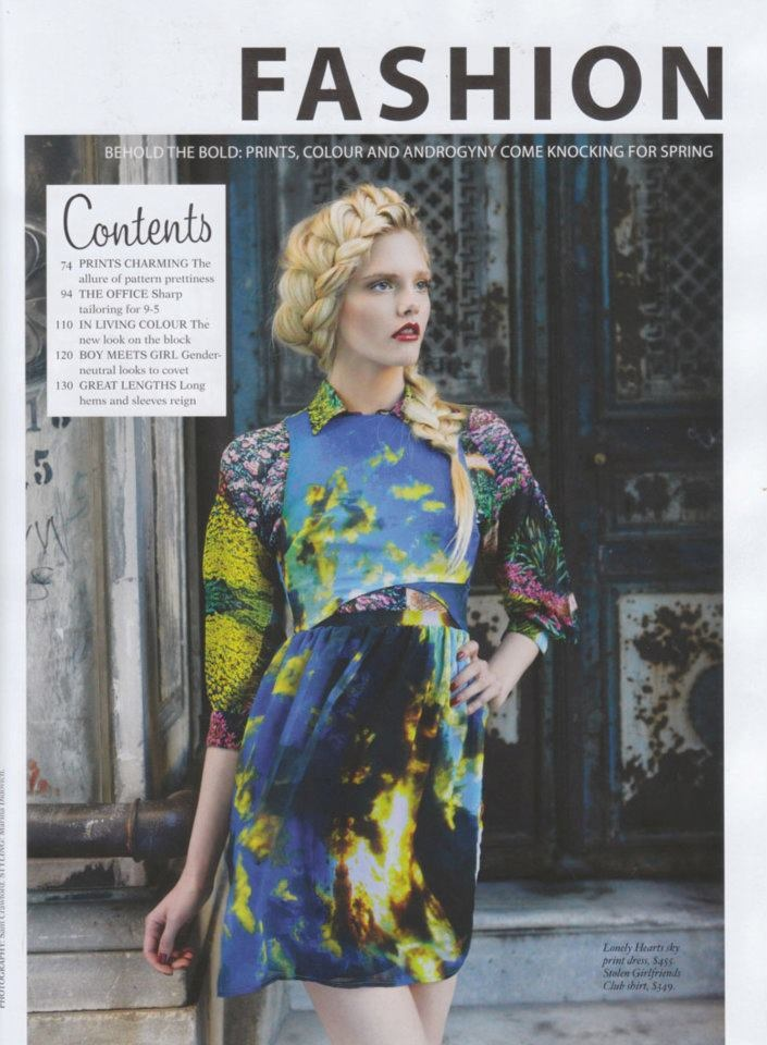STOLEN GIRLFRIENDS CLUB SCALLOP FRONT BLOUSE  NZ FASHION QUARTERLY - SPRING 2011