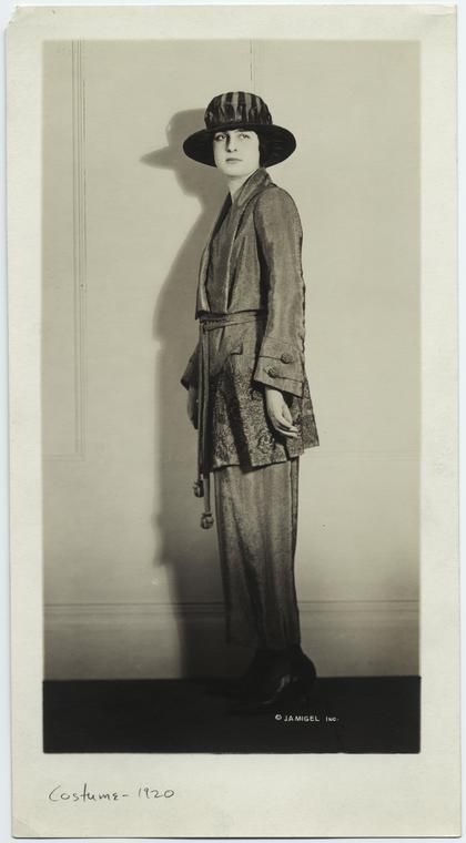 Woman hat and jacket 1920 NYPL