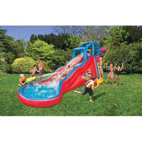 Inflatable Water Slides While Pregnant: Banzai Double Cannon Blast Inflatable Water Slide,, I Don