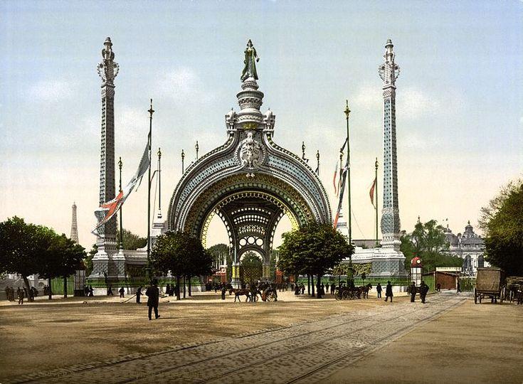 Grand entrance, Exposition Universal, 1900, Paris, France.