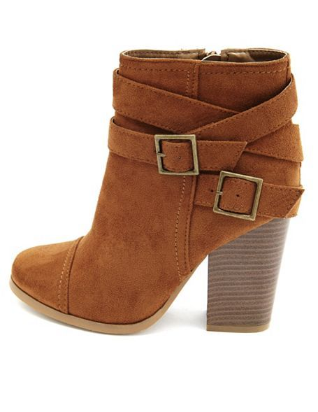 Sueded Chunky Heel Booties ▶suggested by ~Sophistic Flair~