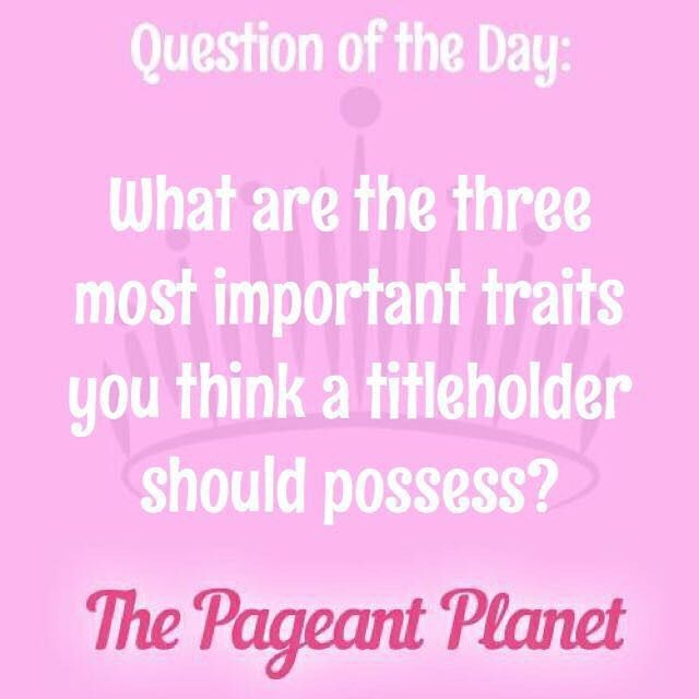 Answer this as you would in interview for a chance to be featured on #PageantPlanet
