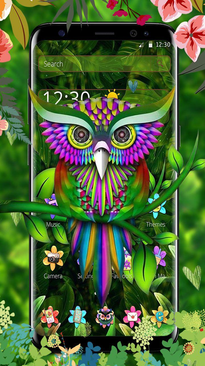 Wise as an owl, sharp as an owl  Cute owl 3D theme and