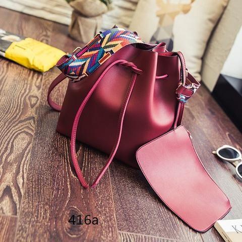 [EBay] Miyahouse Fashion Colorful Strap Women Bucket Bag Vintage Shoulder Messenger Bag Large Retro Desinger Ladies Crossbody Bag