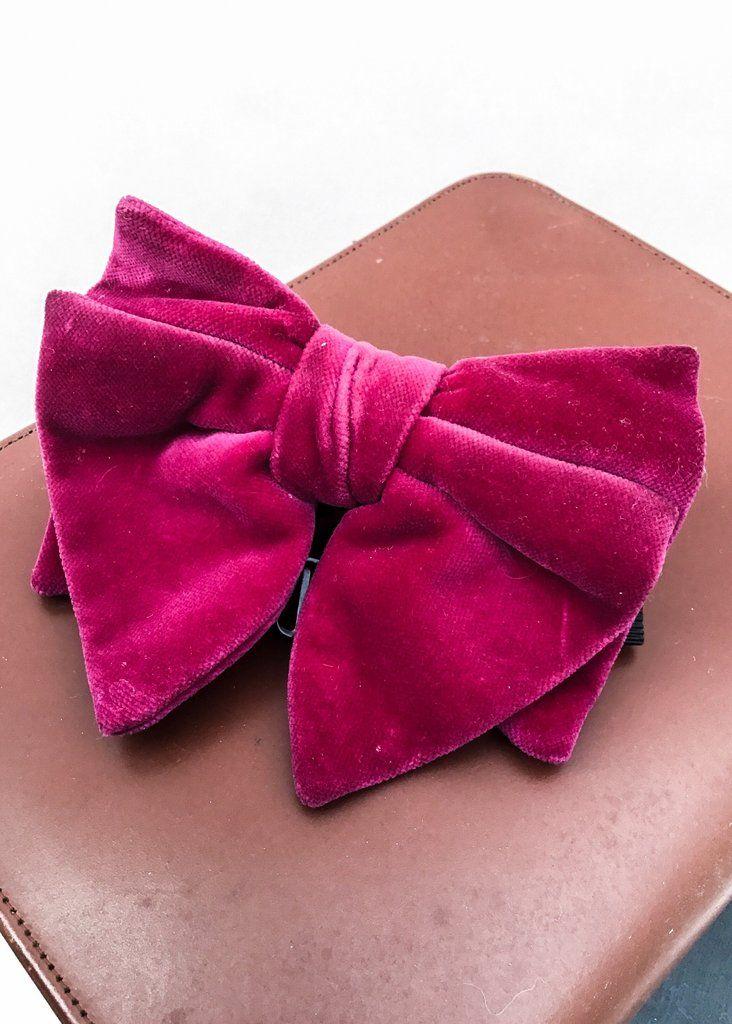 Vintage Pink Velvet Bow