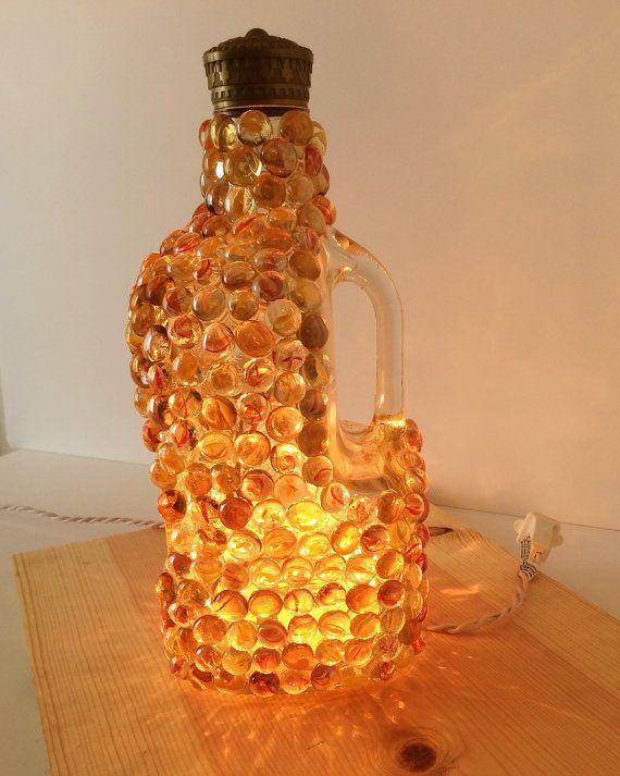 Crown Royal Whisky bottle light Whisky bottle by GluGunsandRoses