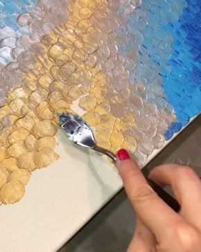 A little process video of the texture painting I…
