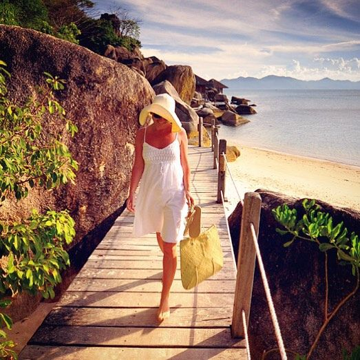 Late afternoon stroll at the Six Senses Ninh Van resort in Vietnam.  Photo by TravelPlusStyle.com • More:  http://www.travelplusstyle.com/