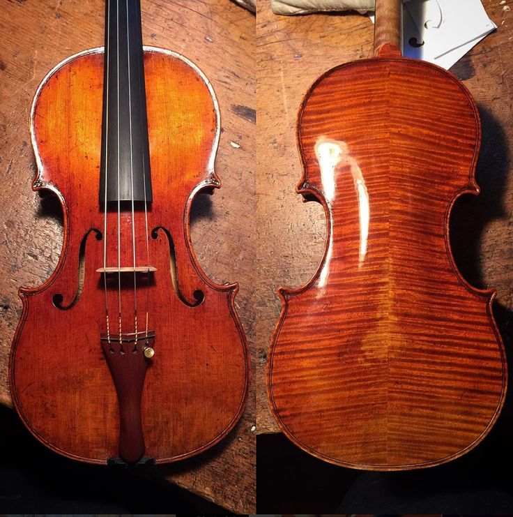 One of my 2012 Balestrieri #violin models in for a little touch up. Nice to be able to care for my children.