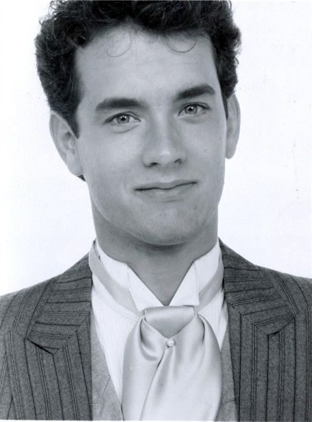 Tom Hanks, male actor, portrait, photo b/w