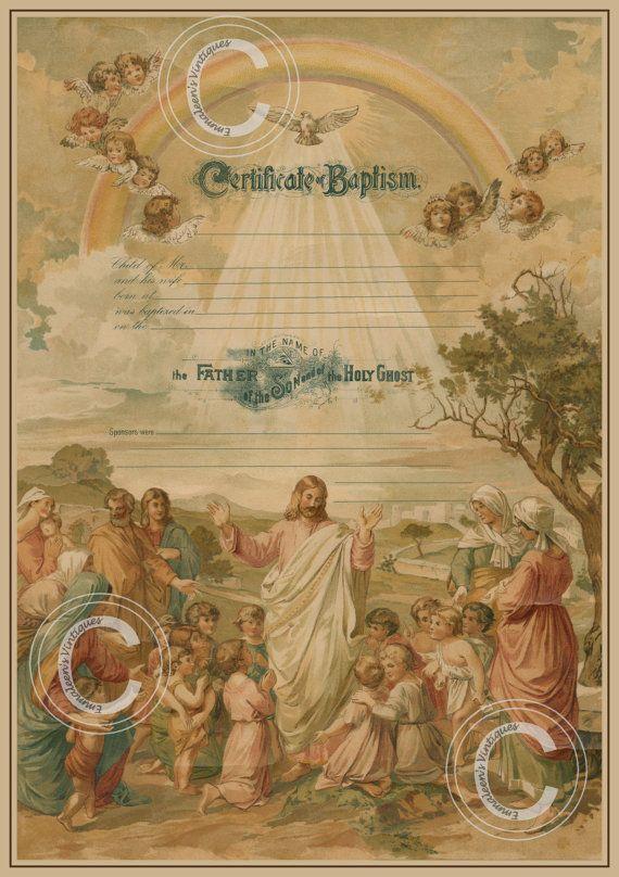 Best Vintage Baptism Certificates Images On   Ancestry