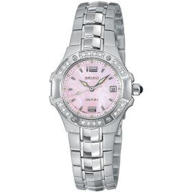 Ladies Seiko Coutura w/pink Mother of Pearl dial. #womensfashion #trend #pink