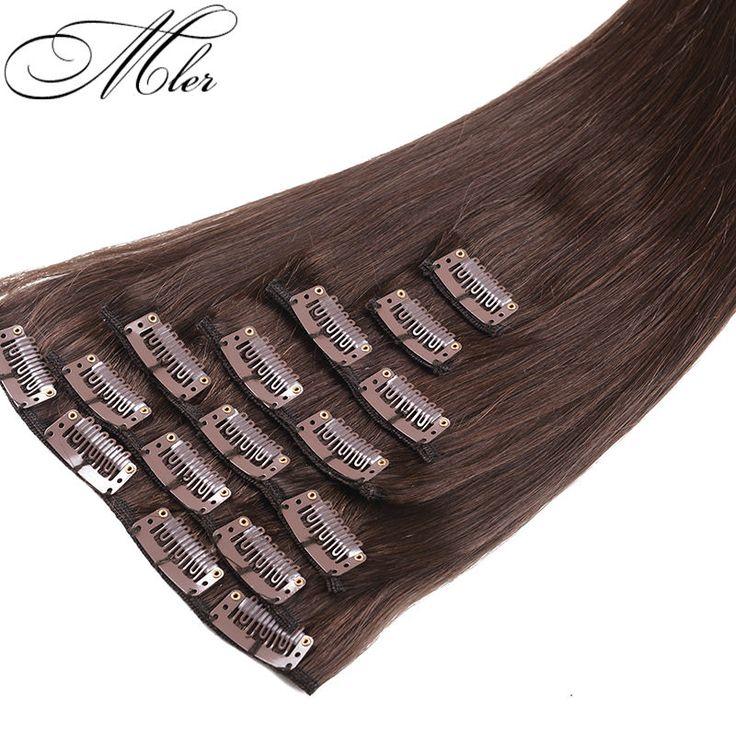 6A Peruvian Virgin Clip In Hair Straight 7PCS Queen Hair Extension 70G/SET Pure Human Hair Hot Selling For Christmas