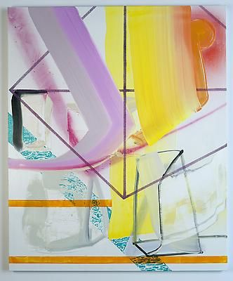 "Andrew Holmquist ""Total Fitness,"" 2013 Oil and spray-paint on canvas 58 x 48 inches"