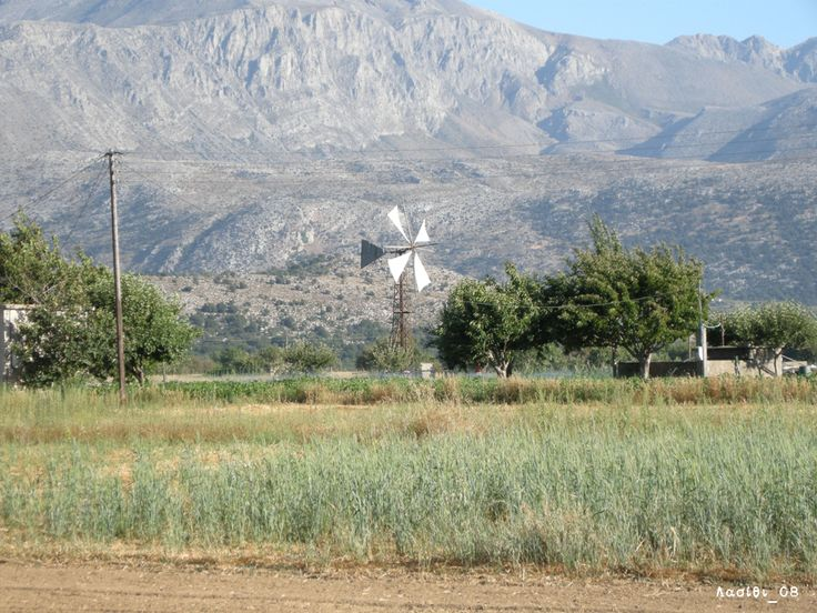 The Lasithi Plateau (Greek: Οροπέδιο Λασιθίου, Oropedio Lasithiou) is a plateau, which is located in the Lasithi, in eastern Crete, Greece. The seat of the municipality is the village Tzermiado. #Tzermiado