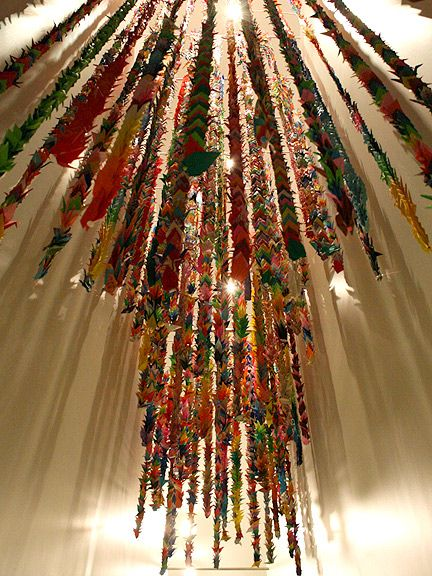 paper crane as a symbol of hope at the 9/11 memorial.: Paper Cranes, Paper Book Art, Photo