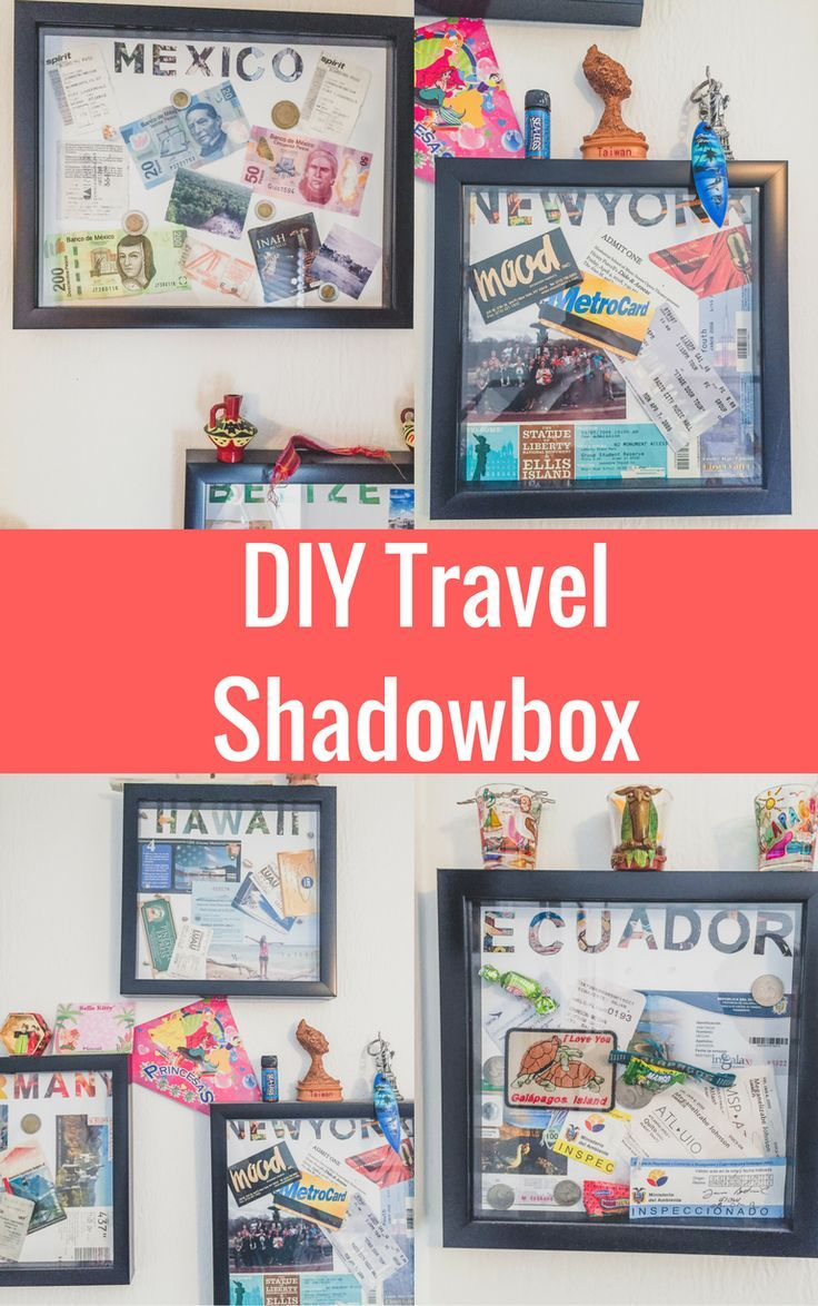 Diy Travel Shadow Box Ideas To Help Preserve Your Memories Travel Shadow Boxes Travel Diy Travel Decor Diy