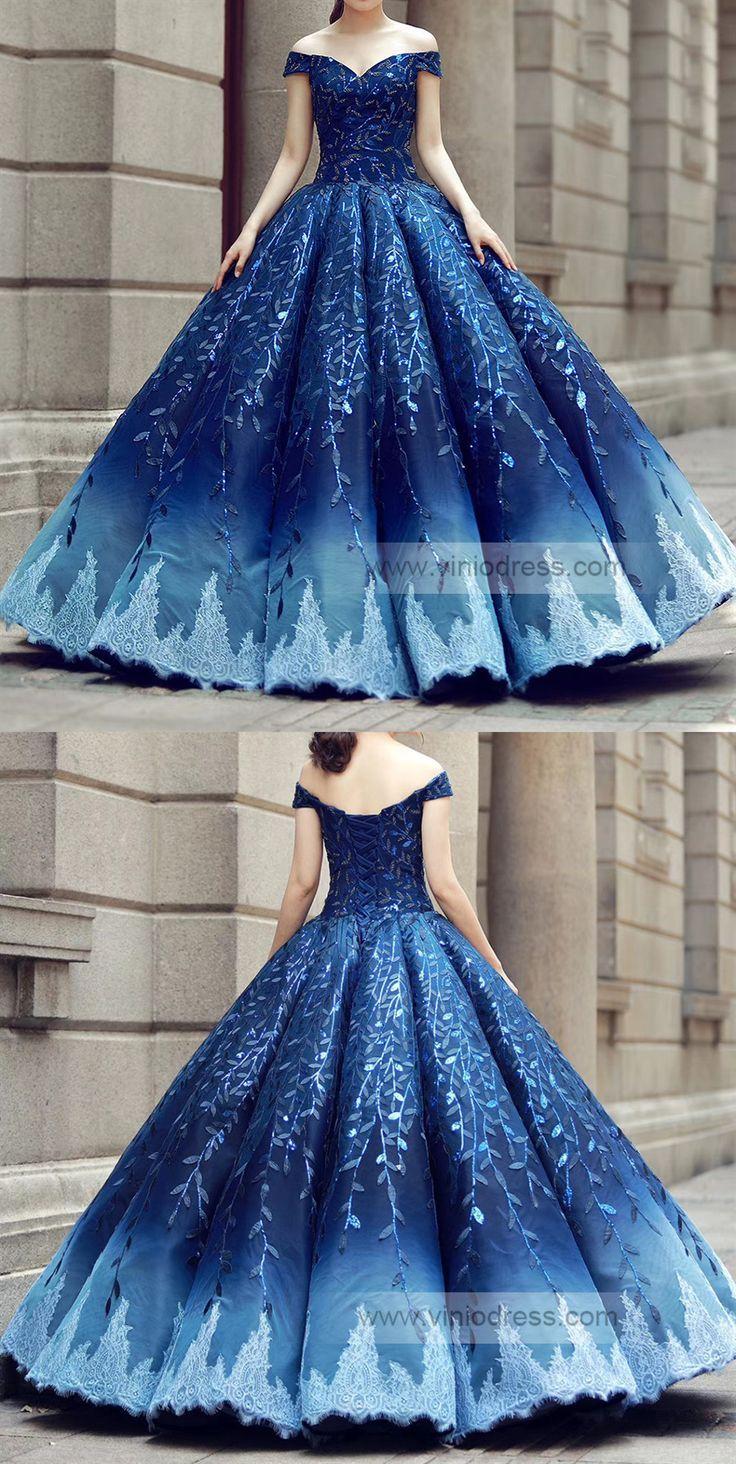 Off Shoulder Royal Blue Princess Dress Viniodress Fd1108 Beautyblog Makeupoftheday Makeupbyme Makeupl Disney Ballkleider Sweet 16 Kleider Blaue Brautkleider