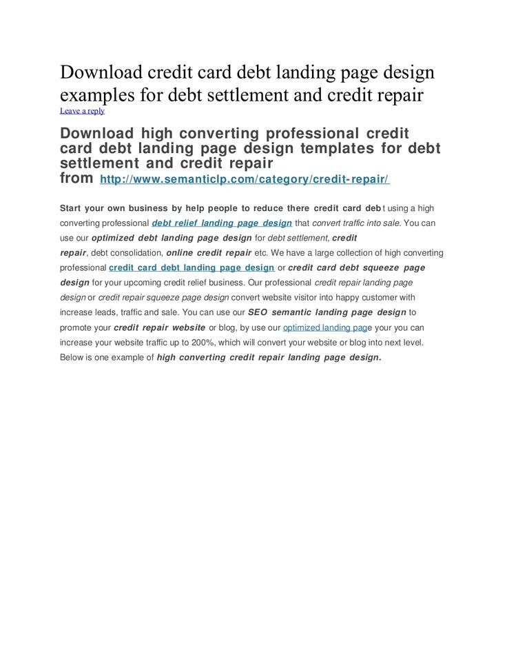 credit card settlement report