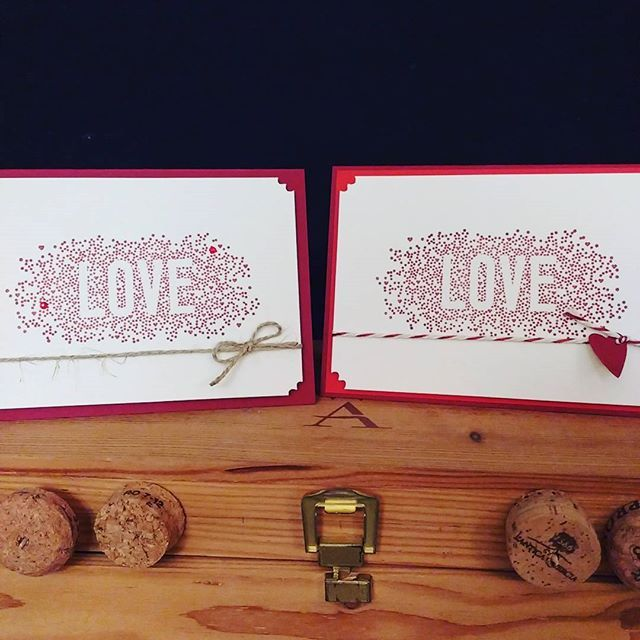 Tonight I am doing samples like there is no tomorrow. So if there was a tomorrow which one would you rather see more often? Left or right?#cardmaking #papercraft #welovehandmade #handmade #diyblog #veronicard #austrianblogger #viennablogger #welovepaper #stampinup #seasonallyscattered #red #love #valentinesday #wedding #allyouneedislove #followerpower #ineedhelp #helpme