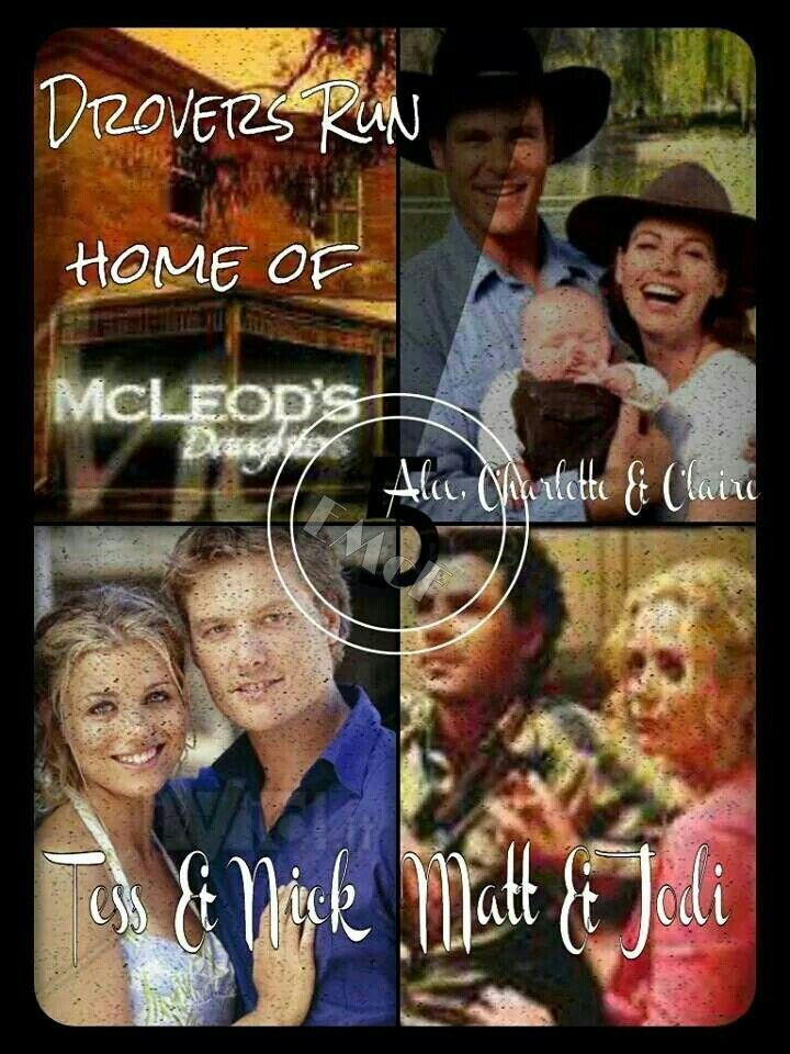 McLeod's Daughters Wallpaper by Elizabeth McFarland- Alex Ryan and Claire & Charlotte McLeod, Tess McLeod & Nick Ryan, and Matt Bosnich & Jodi Fountain-McLeod