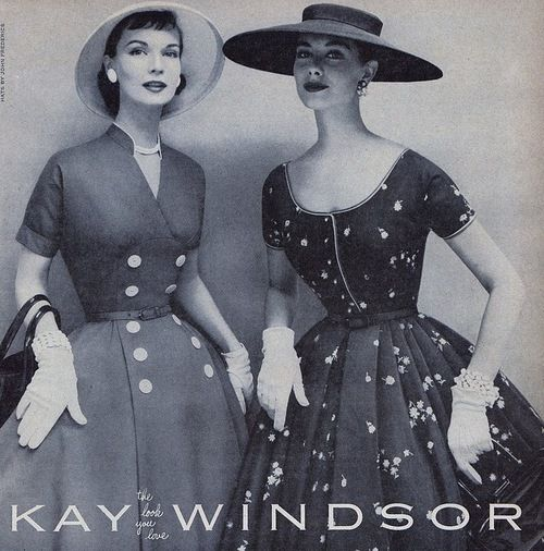 Kay Windsor, 1950s: Kay Windsor, Dresses Fashion, Vintage Fashion, 1950S Dresses, Hats 1950S, Ears 1950S, Dresses 1950S, 1950 S, 1950S Fashion