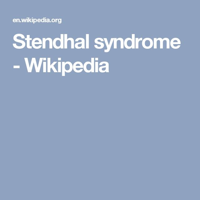 Stendhal syndrome - Wikipedia