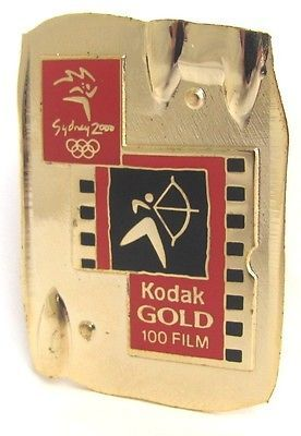 #Kodak gold film #archery event #sydney olympic games 2000 pin badge collect #262,  View more on the LINK: http://www.zeppy.io/product/gb/2/261528564703/