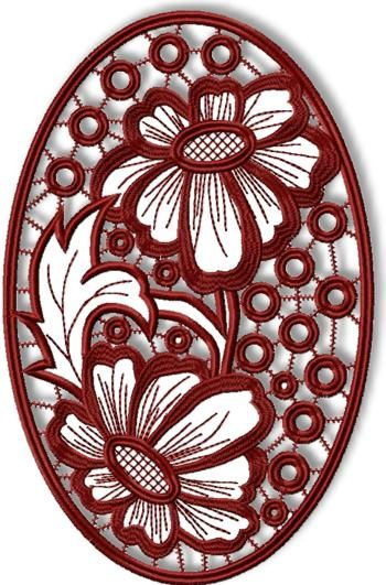Advanced Embroidery Designs - Daisy Cutwork Lace