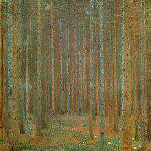 Fototapet - Klimt, Gustav - Fir Forest I