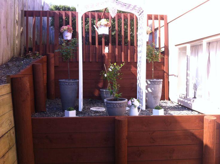 Rose garden in progress