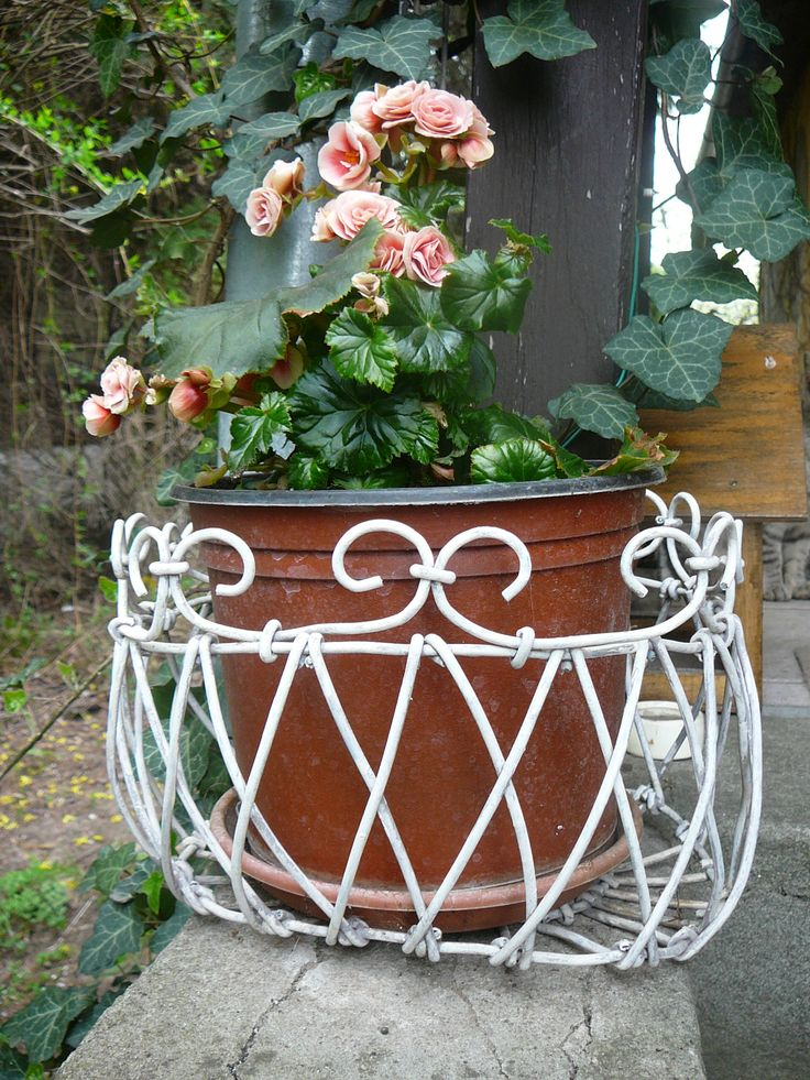 shabby wire basket