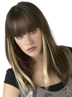 highlight hair style 1000 ideas about peekaboo highlights on 1805