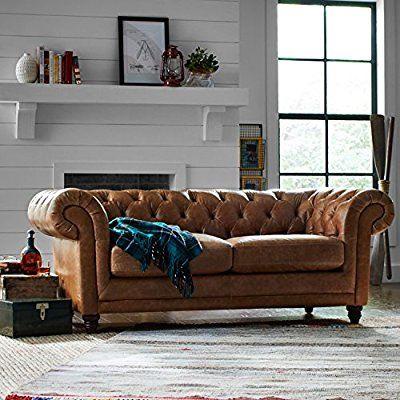 Amazon Com Stone Beam Bradbury Chesterfield Modern Sofa 79 W