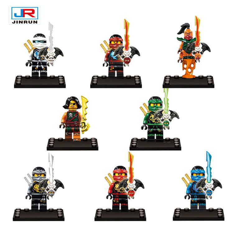 8 unids/lote Ninjagoes Compatible Legoes Bloques Ninja Lloyd Jay Ladrillos Figuras de Acción de Juguete de Modelo Para Los Niños Regalo
